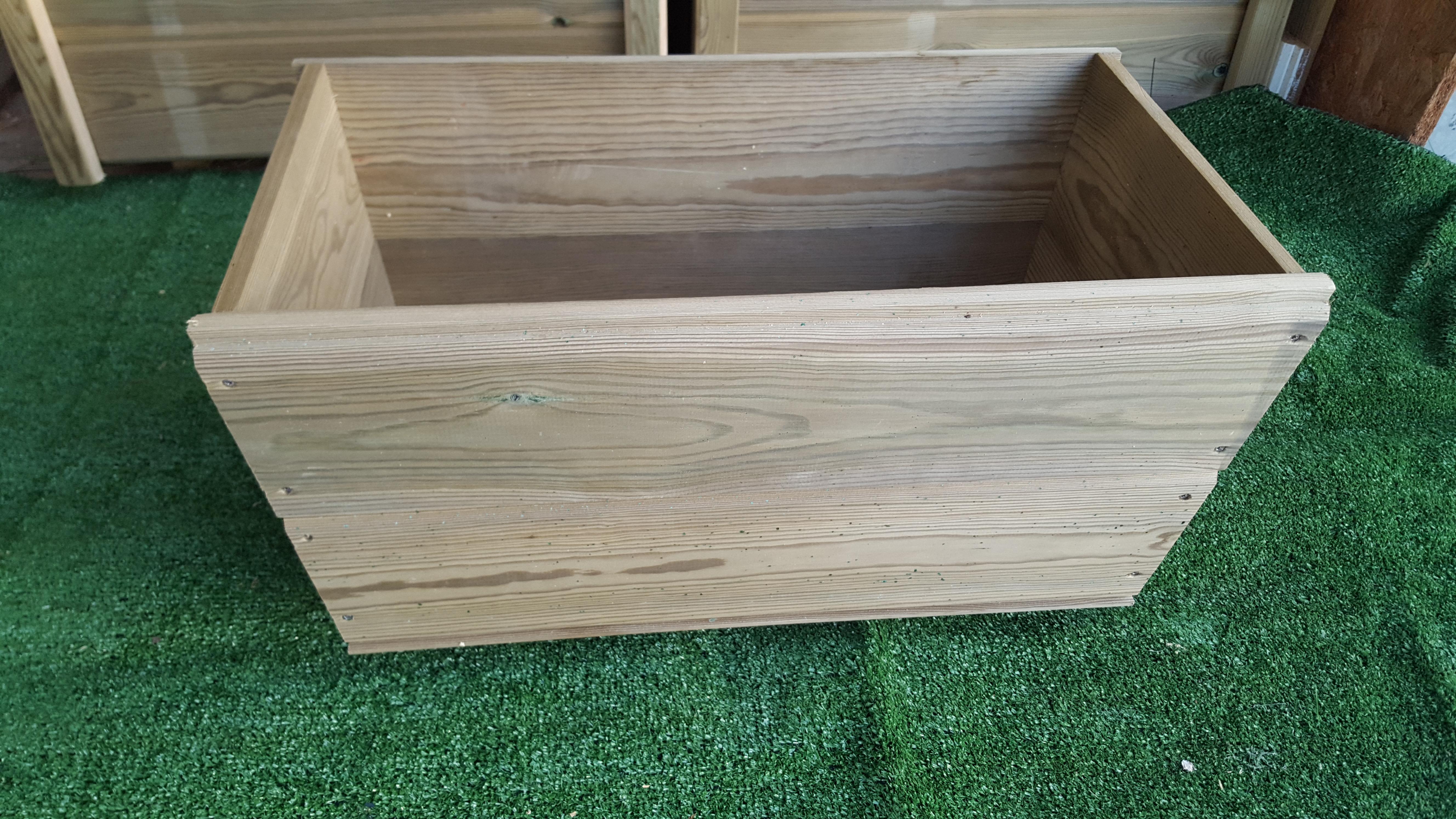 Macetera de madera tratada - Madera de pino tratada ...