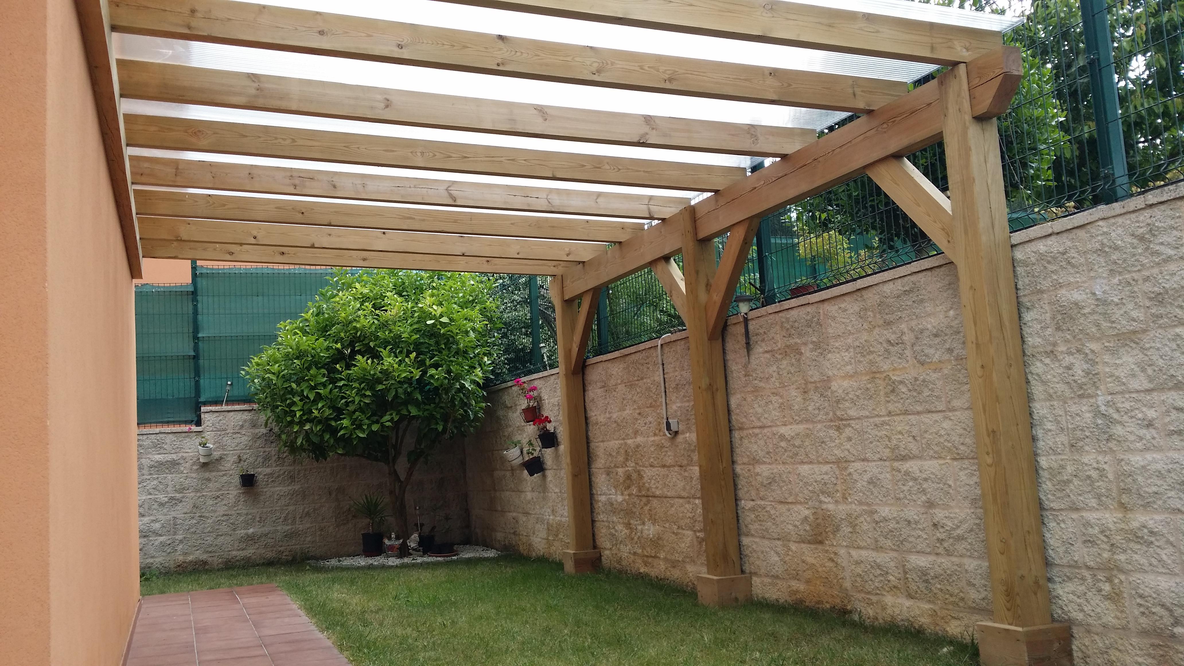 Pergola madera tratada 7 3 6 - Construir pergola de madera ...