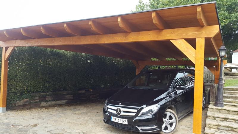 Garaje madera laminada 6 5 - Garaje de coches ...