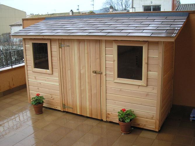 Caseta de jardin claudia 2 5 x 1 5 for Caseta de madera para jardin