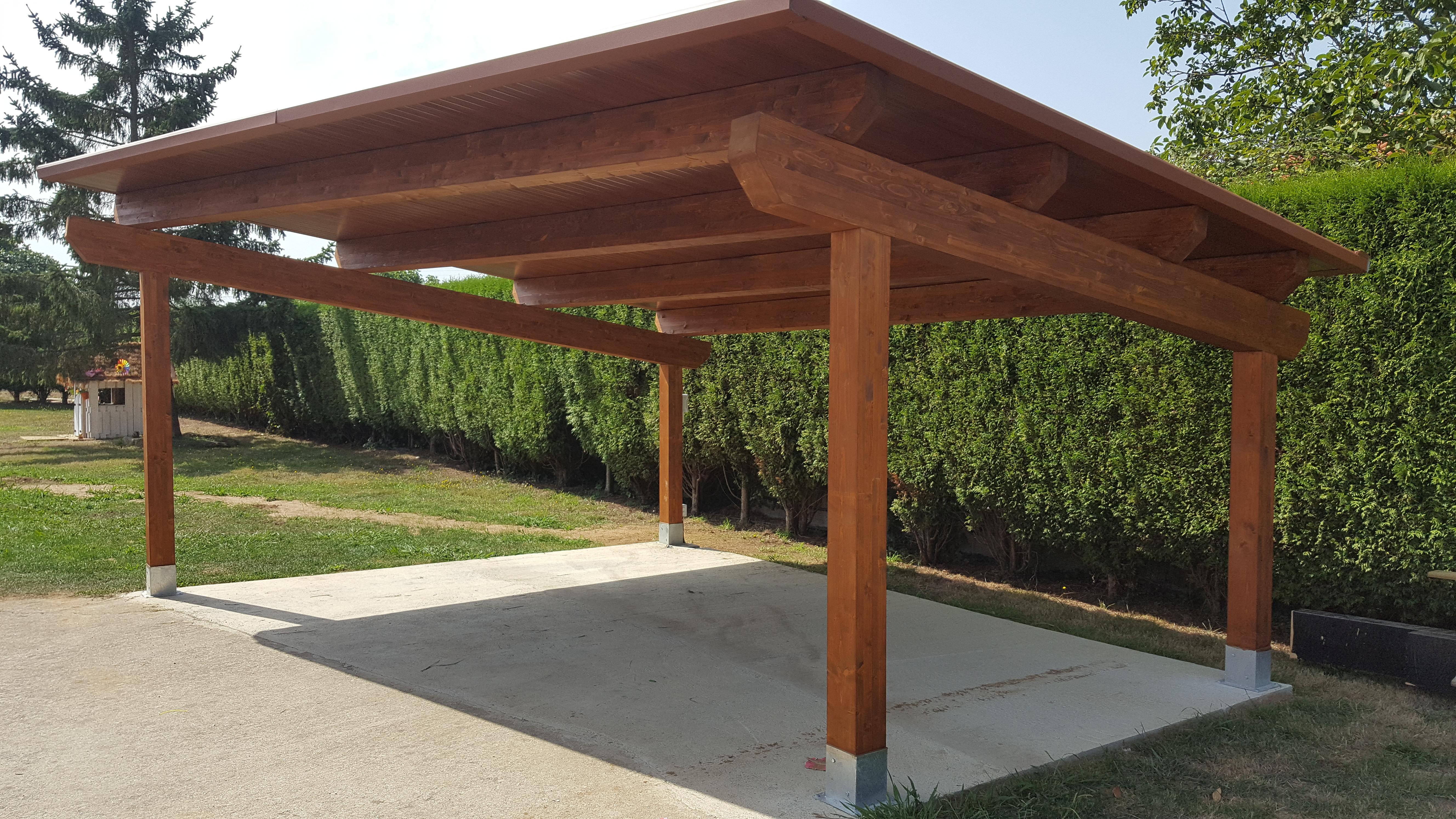 Garaje de madera laminada 6 5 - Porches para coches ...