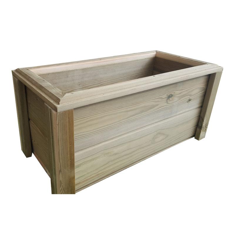 Jardinera de madera tratada en pino 70 l for Madera de pino tratada