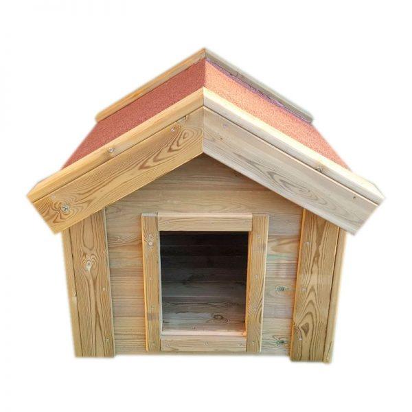 Caseta perros de madera