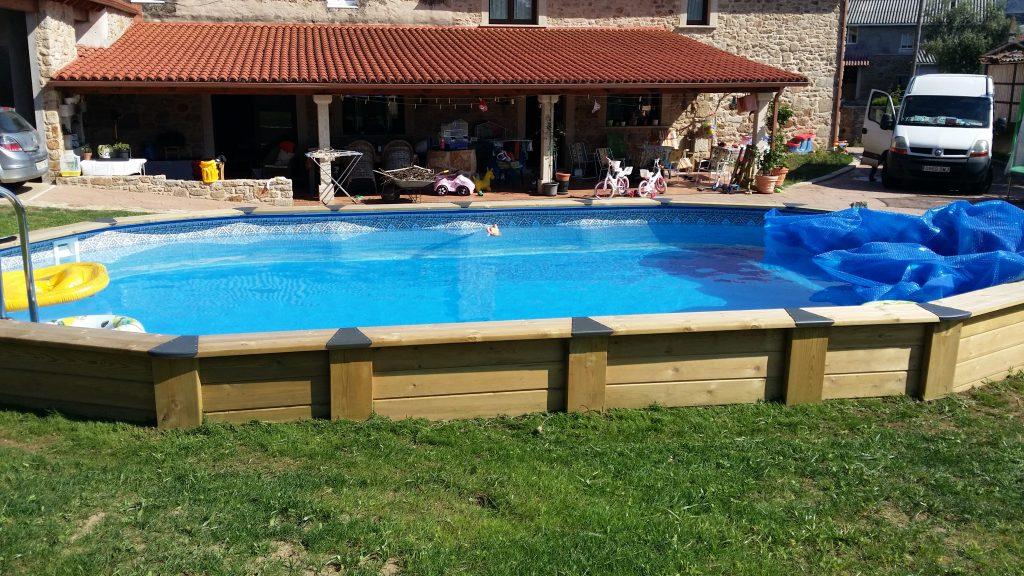 piscina madera tratada